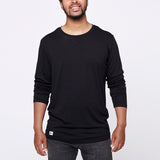 Men's Merino Long Tee - Black
