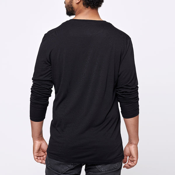 Men's Merino LongTee - Black