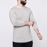 Men's Merino LongTee - Light Grey