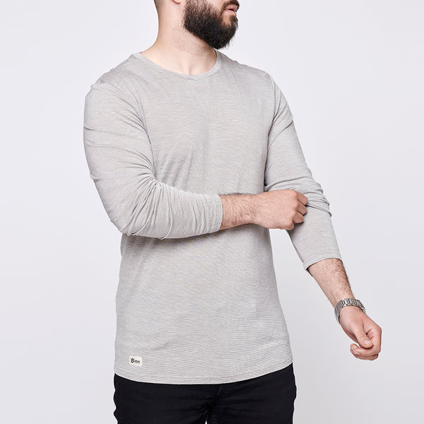 Men's Merino Long Tee - Light Grey