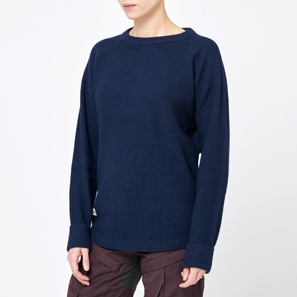 Women's Rambler Wool Sweater - Bilberry