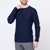 Men's Stray Merino Sweater - Indigo