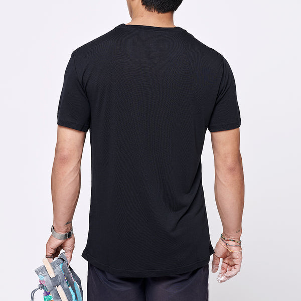 Men's Stroller Merino Tee - Big Black Logo
