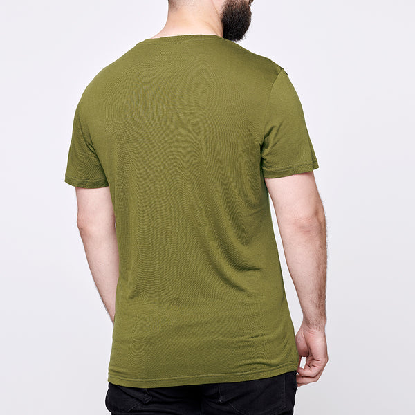 Men's Stroller Merino Tee - Green Fern