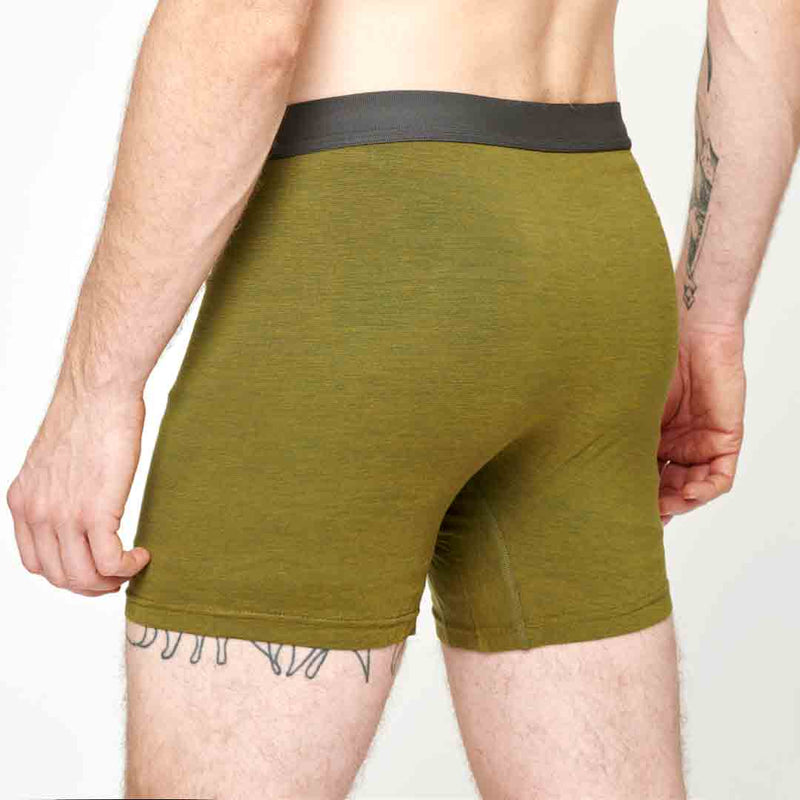 Men's Merino Boxer - Olive Green