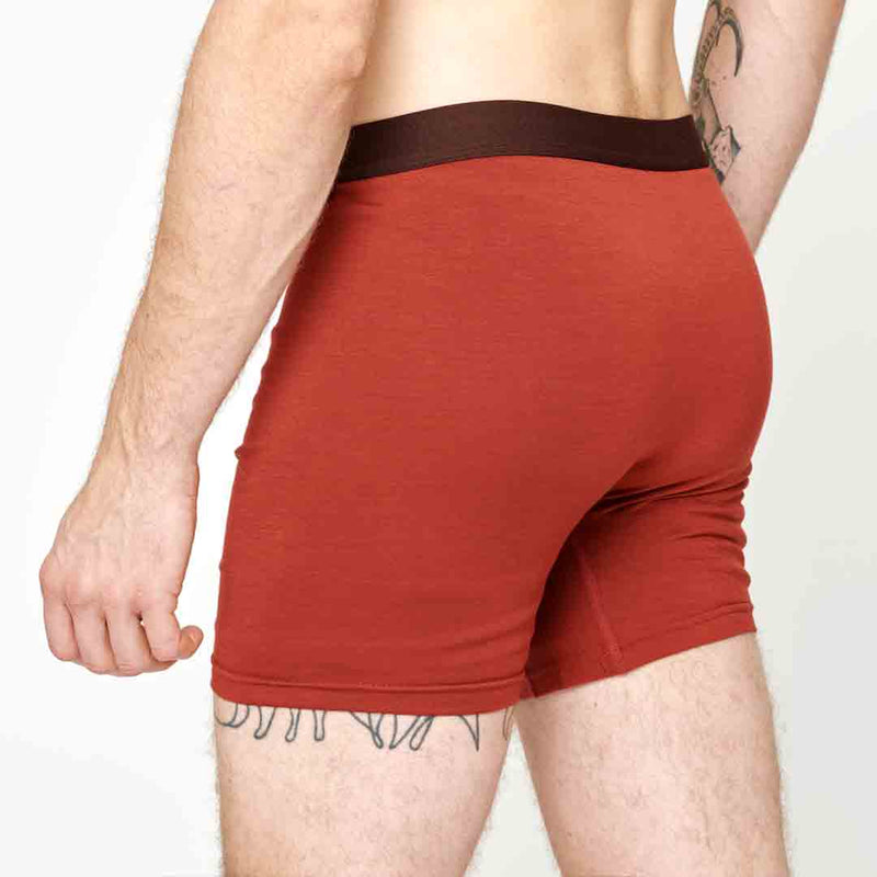 Men's Merino Boxer - Rusty Red