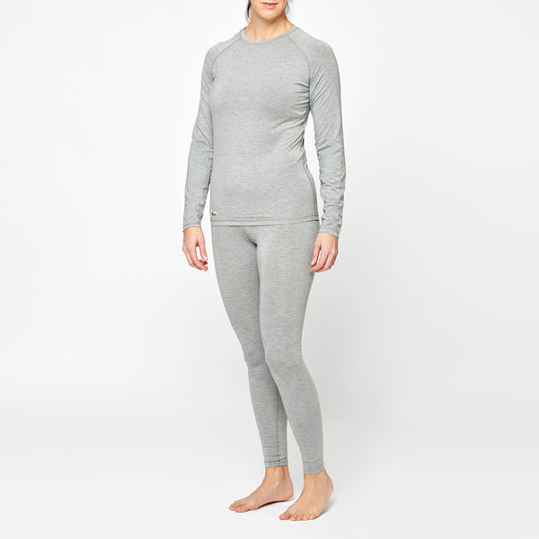 Women's Basic Bamboo Sweater - Grey Marl