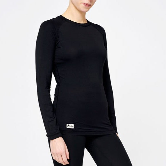Women's Basic Bamboo Sweater - Black