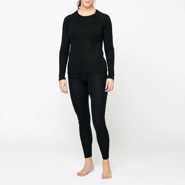 Women's Merino Base Sweater - Black