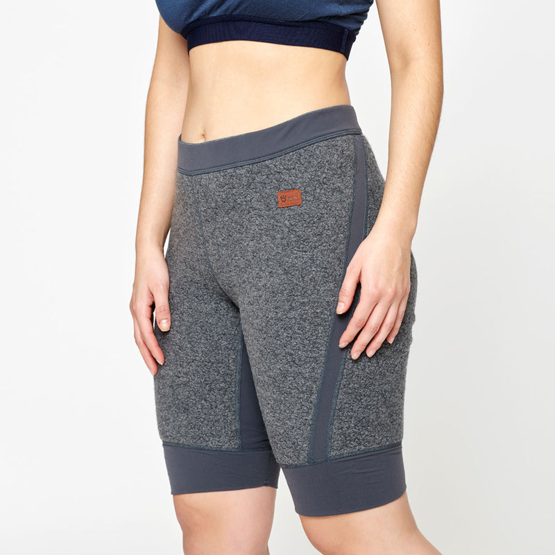 Women's Wool Pile Quads - Dark Grey