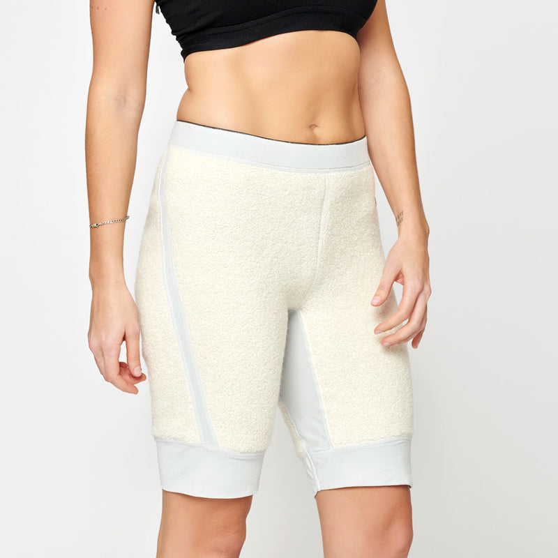 Women's Wool Pile Quads - White