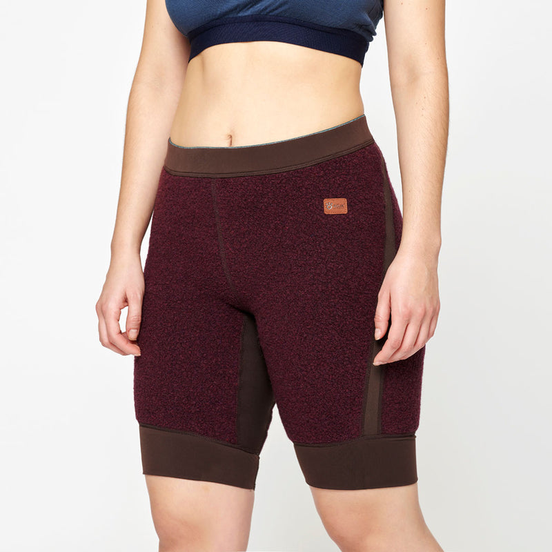 Women's Wool Pile Quads - Red Wine
