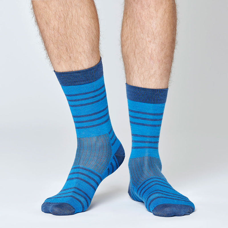 Everyday Merino Socks - Blue Stripes