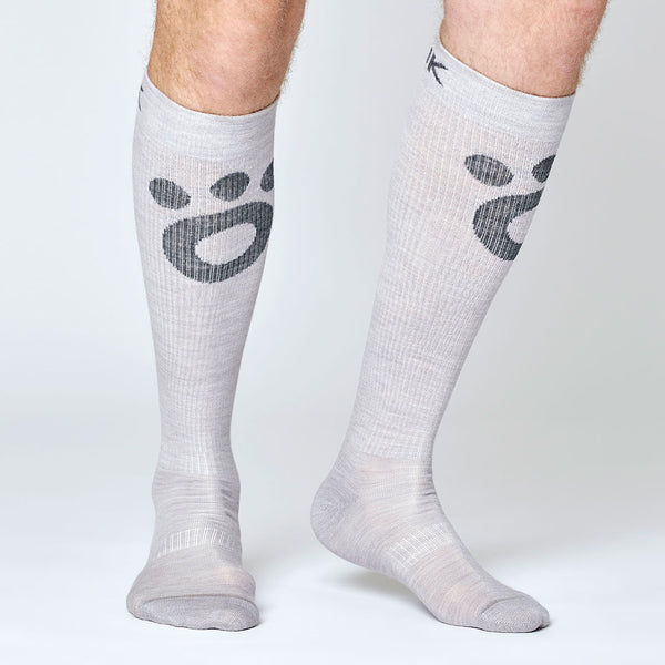 Compression Merino Socks - Light Gray