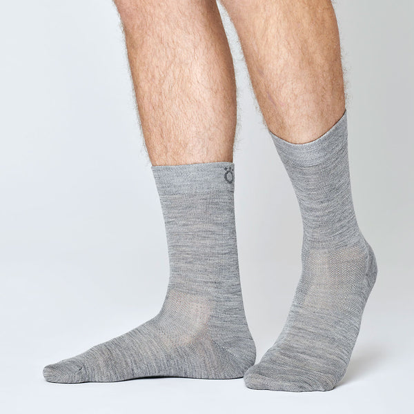 Everyday Merino Socks - Light Grey