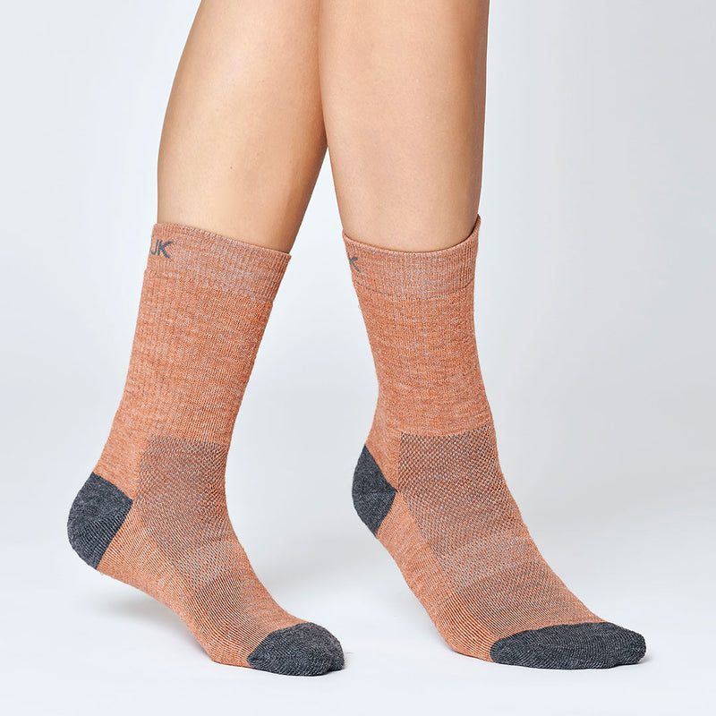 Hiker Merino Mid Socks - Rusty pink
