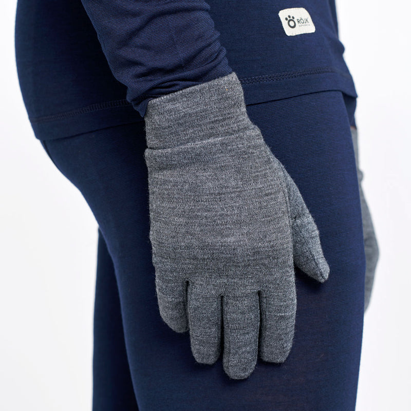 Merino Gloveliner - Mark - Anthracite