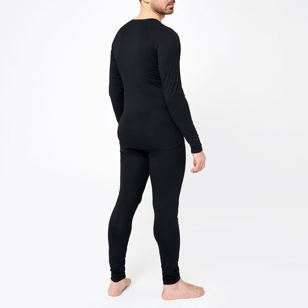 Men's Basic Bamboo Sweater - Black
