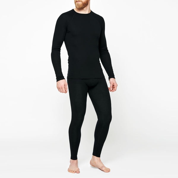 Men's Merino Base Sweater - Black