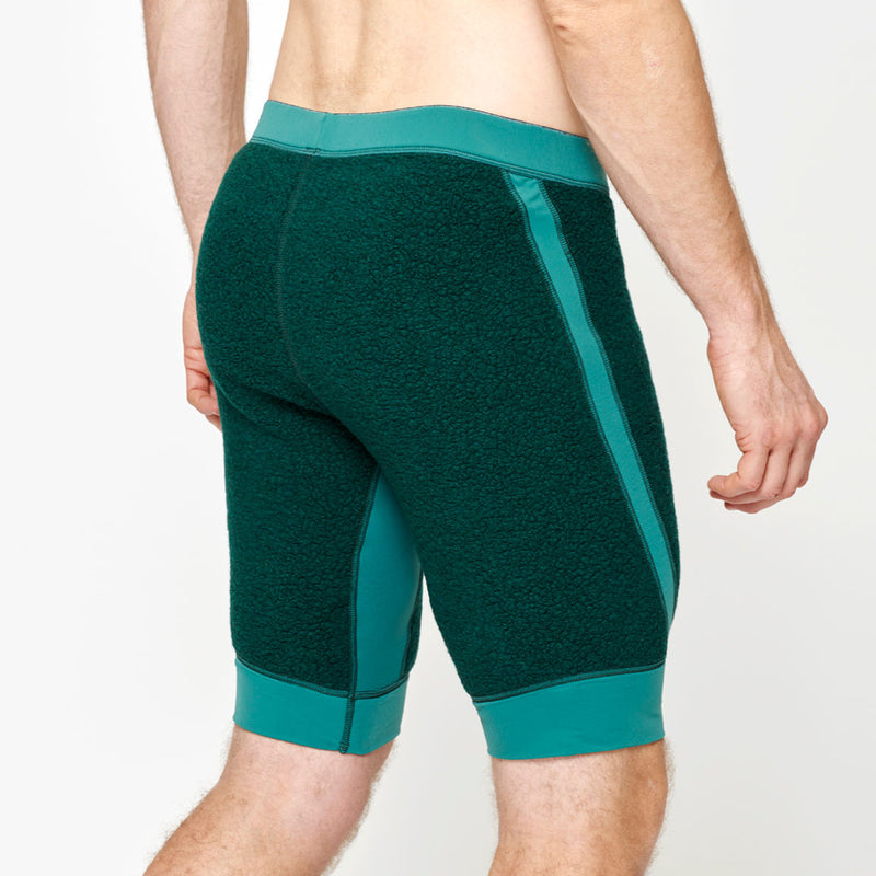 Men's Wool Pile Quads - Green Forest