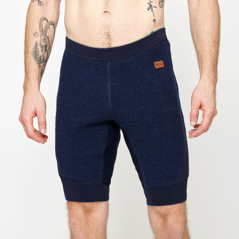 Men's Wool Pile Quads - Navy