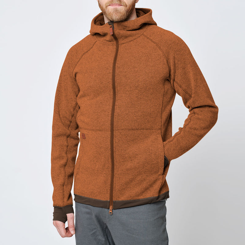 Men's Wool Hoodie - Orange