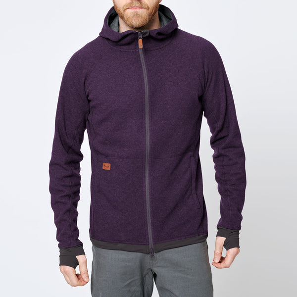 Men's Wool Hoodie - Purple