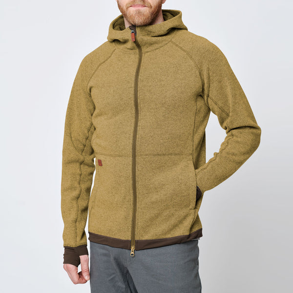 Men's Wool Hoodie - Yellow Fall