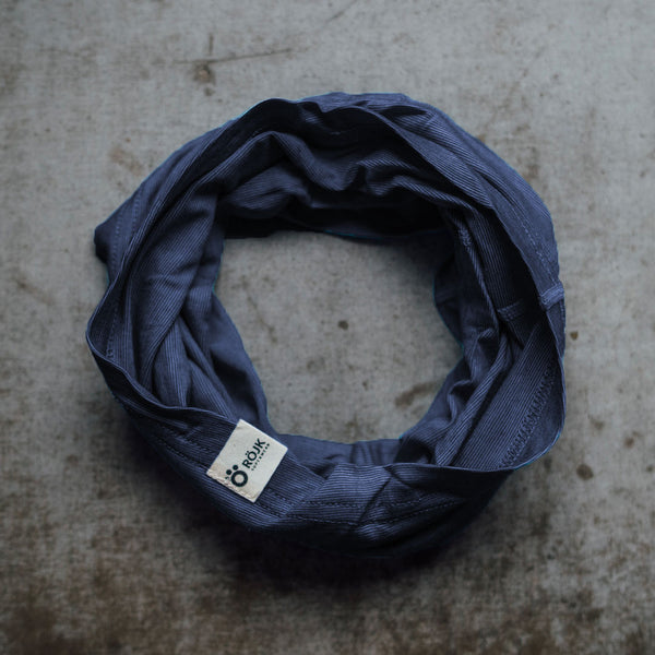 Merino Neck Tube - Midnight Navy