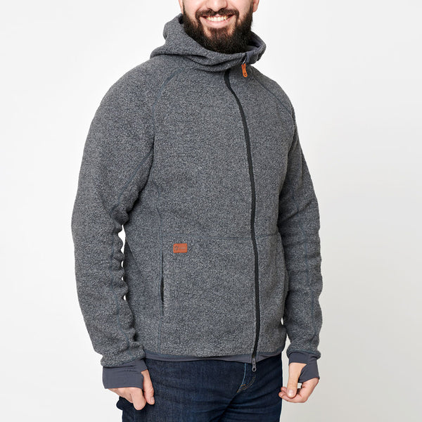 Men's Wool Pile Hoodie - Dark Grey
