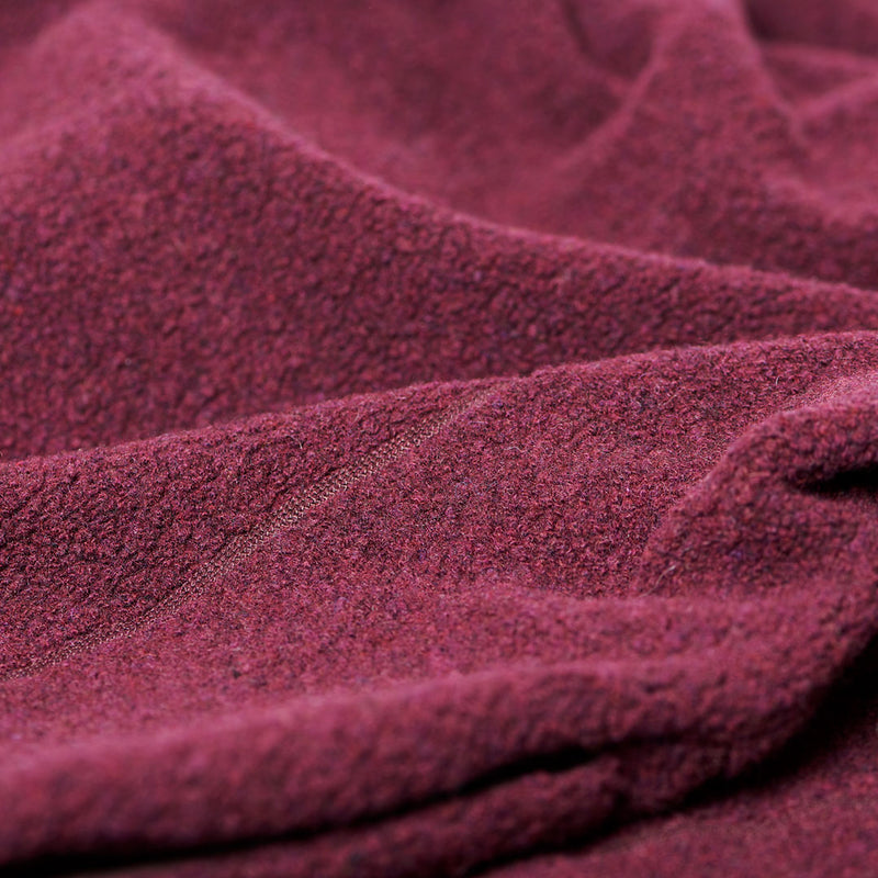 Men's Wool Pile Quads - Red Wine