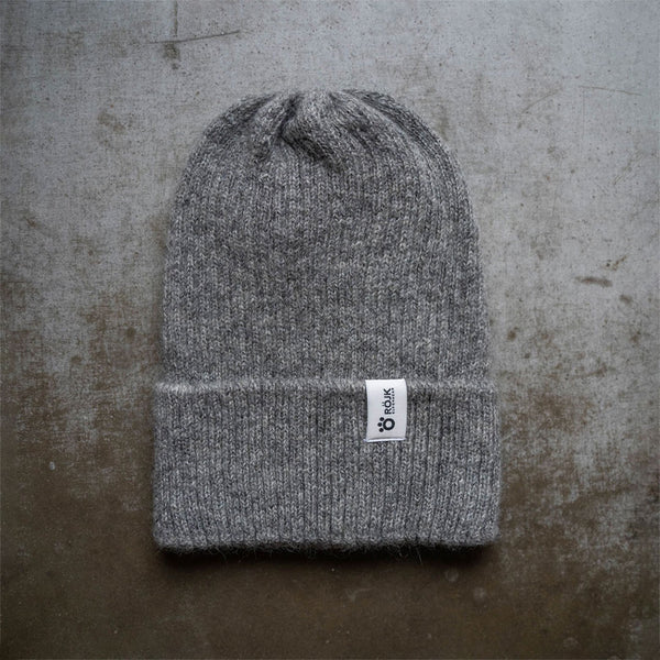 Ribber Wool Beanie - Grey
