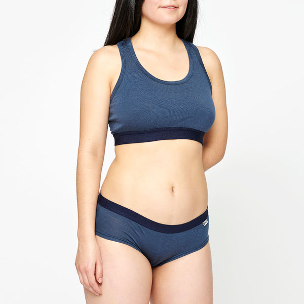Women's Merino Top - Midnight Navy