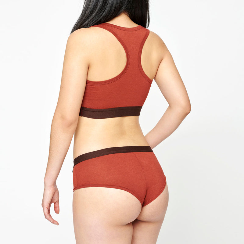 Women's Merino Hipster - Rusty Red