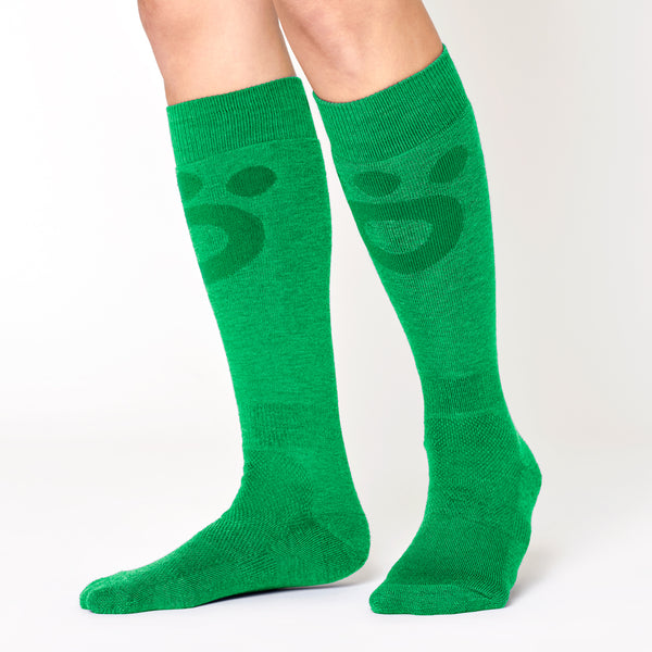 Skier Merino Mid Socks - Green Lime