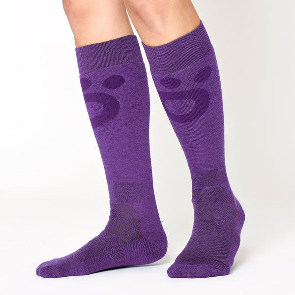 Skier Merino Mid Socks - Purple