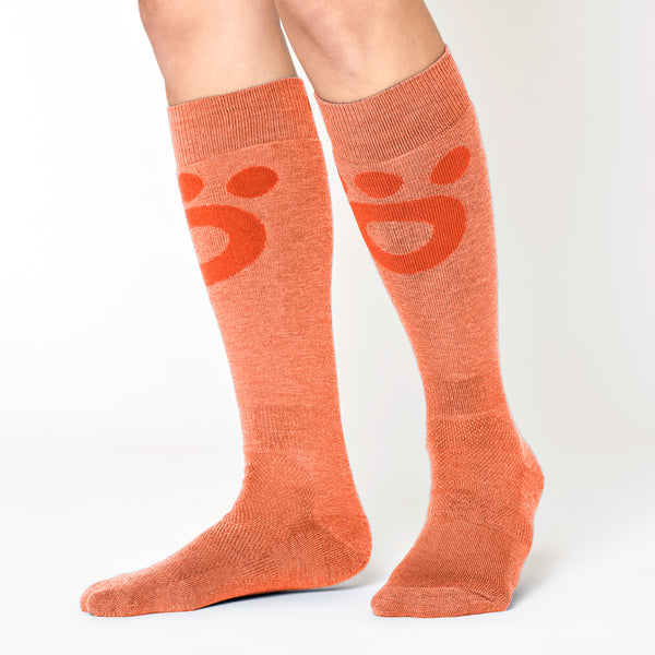Skier Merino Mid Socks - Orange