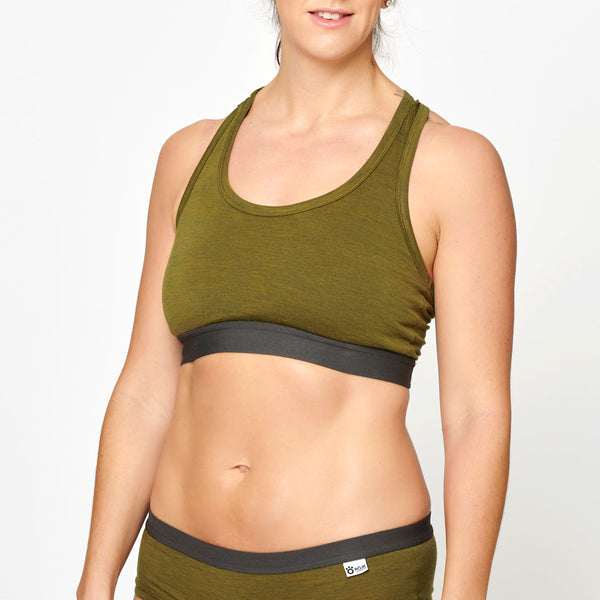 Women's Merino Top - Olive Green