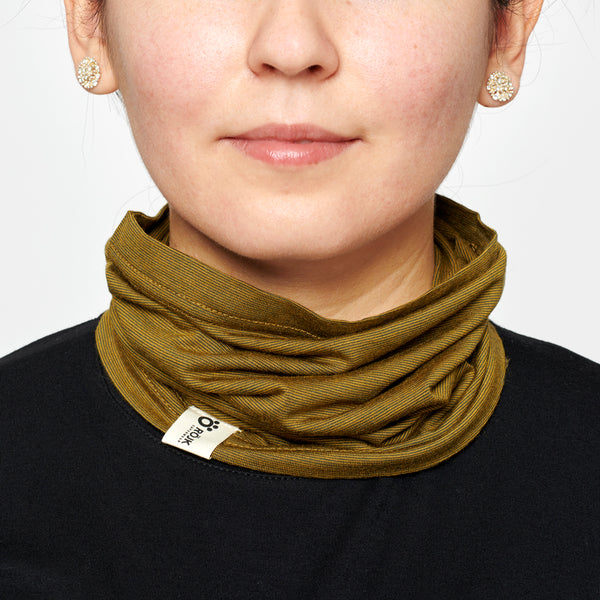 Merino Neck Tube - Olive Green