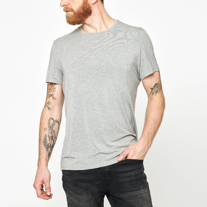 Men's Basic Bamboo T-shirt - Grey Marl
