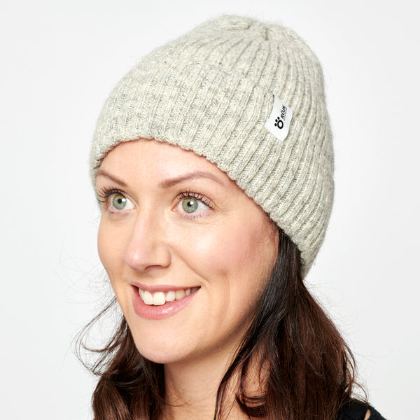 Ribber Wool Beanie - Light Grey