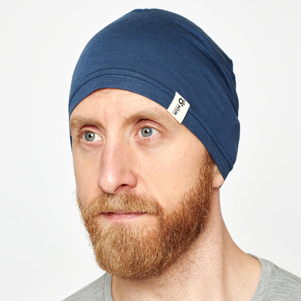Merino Liner Beanie - Midnight Navy