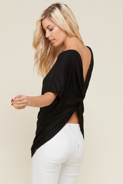 Twisted Back Tunic Top