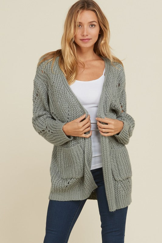 Crochet Long Sleeve Cardigan.