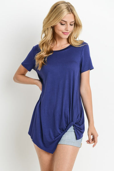 Short Sleeve Unknotted Top.