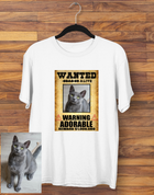 Custom Wanted Poster T-shirt
