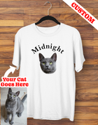 Custom Cat Picture & Name T-shirt