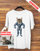 Custom Strong Man Cat T-shirt