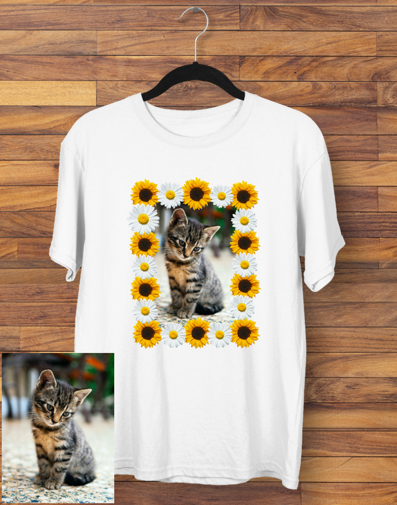 Custom Flower Photo T-shirt
