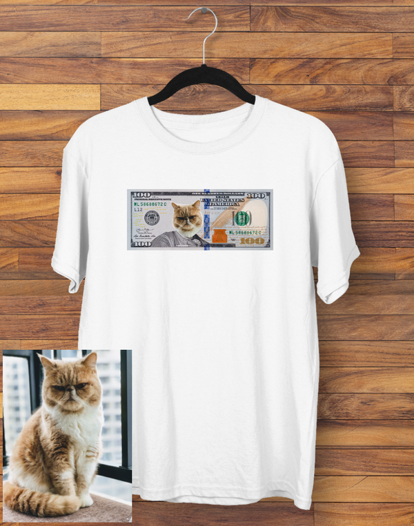 Custom Cat $100 T-shirt